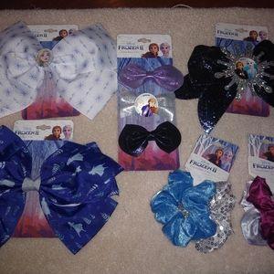 Disney Frozen II Hair Accessory Lot - 10 Pieces